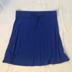 Blue Drawstring Skirt NWOT